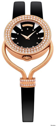 Open Magic is the newest collection of luxury timepieces for women from DeLaneau.