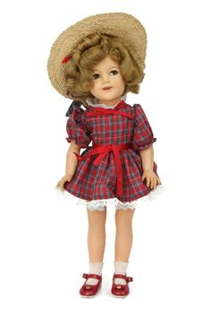 "Vintage 1950s Shirley Temple Doll Ideal Flirty Eyed Vinyl ST-17-1 Redressed 17"" #Ideal"