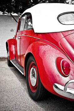 Candy Red VW by Little Light Photography, via Flickr