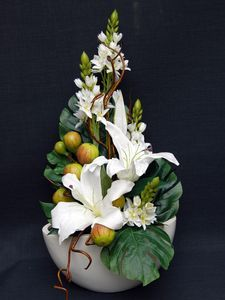 Botanical Statements - Finest quality artificial flower arrangements  I think the chincherinchee is either snapdragon ir star if Bethleham