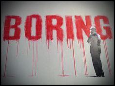 Banksy 'Boring'. En la burbuja de esta sociedad hipócrita.