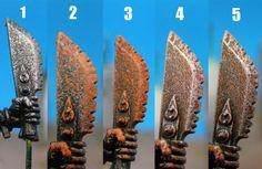 Drazhar's Miniworks: Tutorial - rusted metal