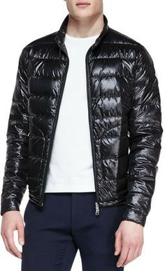 Moncler Acorus Lightweight Puffer Jacket Red