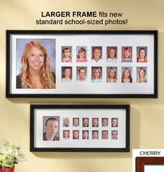 Display your child's yearly photos in this School Days Frame!