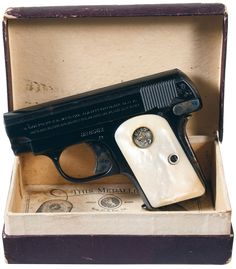 Colt Model 1908 Vest Pocket Pistol 25ACP with Pearl Grips and Factory Box