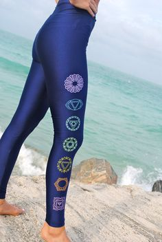 Simple Chakra Metallic Shiny Leggings by GrizzyLove on Etsy