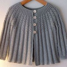 Baby Cardigan ~ knit by Alicia Paulson; vintage pattern (link to Ravelry info…Ravelry: AliciaPaulsons Changing Days Cardigan a baby sweater - re work for grown-up.Changing Days Cardigan via Posy Gets CozyRavelry: Project Gallery for Style No. Baby Knitting Patterns, Knitting For Kids, Knitting Designs, Baby Patterns, Sweater Patterns, Knitting Projects, Baby Pullover, Baby Cardigan, Crochet Cardigan