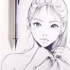 drawing of a girl drawing of a girl ; drawing of flowers ; drawing of eyes ; drawing of lips ; drawing of hands ; drawing of people ; drawing of a boy ; drawing of love Manga Drawing, Drawing Sketches, Drawing Tips, Drawing Faces, Learn Drawing, Drawing Ideas, Sketching, Drawing Tutorials, Drawing Reference