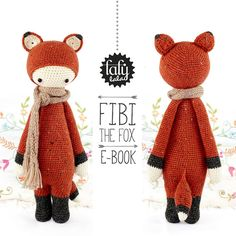 FIBI the fox  lalylala amigurumi crochet PATTERN  by lalylala