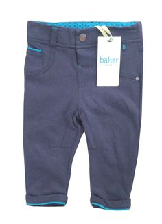 93bddf3b9 Ted Baker Baby Boys Trousers Jersey Chinos Blue Designer 6-9 Months