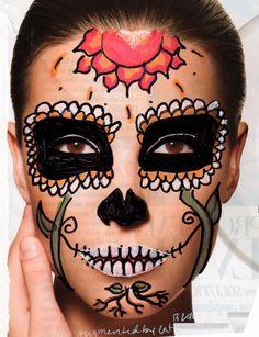 dia de los muertos makeup | beautiful dia de los muertos | create