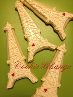 Eiffel Tower Cookies Shabby Chic Wedding Paris by CookieXchange, $30.00
