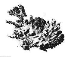 One of the maps highlights every mountain range in Iceland (pictured), which is filled wit...