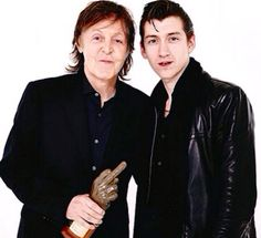 Alex Turner with Paul Mccartney