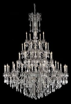 Elegant Lighting Rosalia Collection Foyer/Hallway Large Hanging Fixture X  Pewter Finish (Swarovski Strass/Elements Crystals)   Mega Supply Store