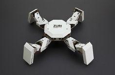 ペーパークラフトで組み立て可能&スマホから操作が可能な多脚ロボ「ZURI」 - GIGAZINE