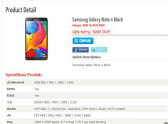 An online smartphone store's product page for the upcoming phablet lists a 5.7-inch display and a 16-megapixel camera.