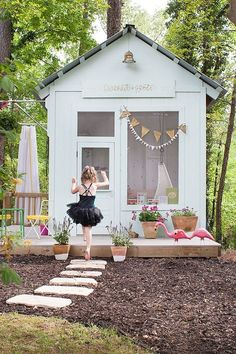My Shed Plans - Stylish Sheds: 8 Incredible Backyard Ideas -Lay Baby Lay Play House - Now You Can Build ANY Shed In A Weekend Even If You've Zero Woodworking Experience! Backyard Playhouse, Build A Playhouse, Playhouse Ideas, Outdoor Playhouses, Fun Backyard, Backyard Storage, Modern Playhouse, Backyard Toys, Kids Outside Playhouse