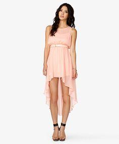 High-Low Georgette Dress #Forever21 #DressesUnder25 #HighLow