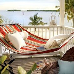 This cozy beach hammock makes for the perfect outdoor reading nook.