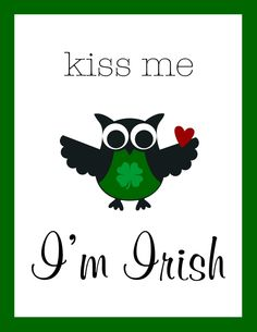 MDS Stampin Up Kiss me St. Patrick's Day Owl Greeting Card with envelope by LoveThoseCards on Etsy