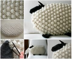 Bobble Sheep Pillow - FREE Pattern