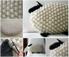 Bobble Sheep Pillow - FREE Pattern