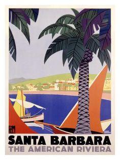 Santa Barbara American Riviera Poster Giclée-Druck at eu.art.com