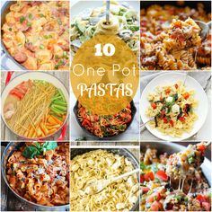 If you are anything like me, you like to use as few things as possible when cooking - much less to clean up later. These delicious looking One Pot Pasta Dishes will make clean up a breeze!