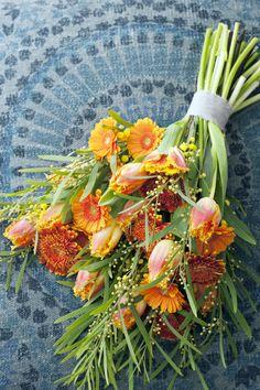 Tulpen zijn helaas nog niet te verkrijgen, maar dit boeket is het onthouden waard! #HBB #mooiwatbloemendoen #gerbera