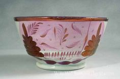 Pearlware lustre bowl, circa 1820