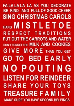 Christmas must-do list