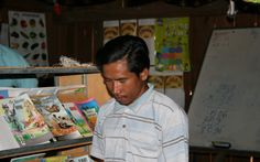 Spotlight on Seng Ven, UWS Community Teacher, Cambodia. UWS Takok Phnong now has 4 classrooms and three teachers. It is always well attended. Seng Ven teaches the grade 2 class and tutors older students in the evenings, opening the library when possible.