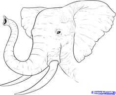 How to Draw a Realistic Elephant, Draw Real Elephant, Step by Step, safari animals, Animals, FREE Online Drawing Tutorial, Added by Dawn, September 19, 2010, 8:38:07 pm