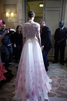 Backstage preparations at the Georoges Hobeika Spring Couture 2013 showing