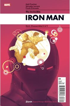 Invincible Iron Man # 23 by Salvador Larroca