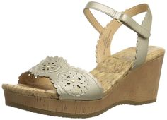 Easy Spirit Women's Marvela Wedge Sandal >>> Trust me, this is great! Click the image. Fashion Sale, Comfortable Shoes, Wedge Sandals, Jewelry Stores, Amazing Women, Wedges, Amazon, Lady, Spirit