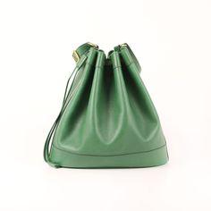 Hermès Market Bucket Bag in green Epsom leather.