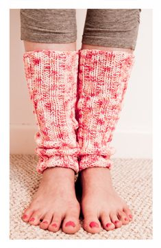 Legwarmers using straight needles