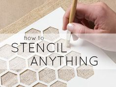 DIY Stencilled Surface Pattern Design - stencilling tips for different surfaces including wood, metal, glass, plastic and fabric; craft project idea