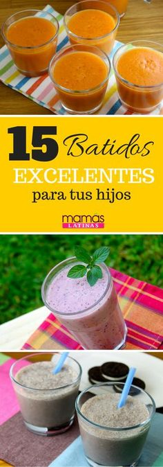 ¡Batidos para niños! Kiwi Smoothie, Broccoli Nutrition, Cookies And Cream, Kids Meals, Dinners For Kids, 9 Month Old Baby, 9th Month, School Breakfast, Breakfast For Kids