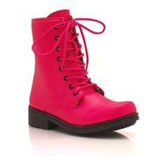 faux leather combat boots ($26) ❤ liked on Polyvore
