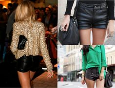 I'm obsessed with leather shorts and pants for the fall