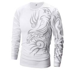 T Bird Brand 2017 Mens T Shirt Dragons Printing Casual Male Long Sleeve T Shirts Funny. Click visit to buy #TShirt