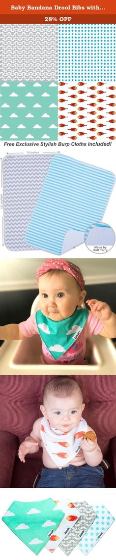 "Baby Bandana Drool Bibs with 2 Burp Cloths, Unisex 6-Pack Christmas Gift Set for Drooling and Teething Boys and Girls, 100% Organic Cotton, Soft, Absorbent, Hypoallergenic - ""Bonbon set"" By Zoozik. LOOKING FOR THE BEST BABY GIFT FOR THE HOLIDAYS SEASON? You can stop now! FINALLY, BANDANA BIBS THAT'RE TRENDY, CHIC, AND EXTREMELY FUNCTIONAL THAT WILL KEEP YOUR LITTLE ONE CLEAN AND DRY! You'll no longer have to worry about boring and ugly bibs covering up your child's cute outfit, or worry..."