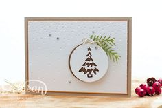 Merriest Wishes, Pretty Pines, Stampin Up, Christmas