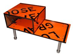 Recycled Furniture Made With Street Signs Street Signs
