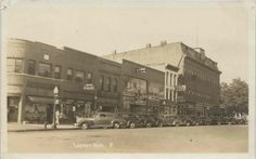 SE Lapeer MI RPPC 1930s Downtown Stores & Businesses Bentleys Drugs Vincent REXALL Drugs Gwim Hardware Gages Store & 5 & 10 Stiles Cafe Phot...