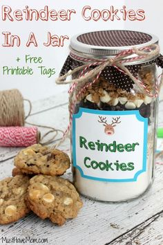 Reindeer Cookies In A Jar Recipe & Instructions