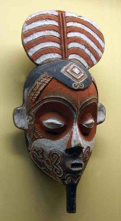 Ceramic mask.